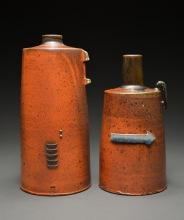Bottle Set, Soda Fired Stoneware, 11x10x5