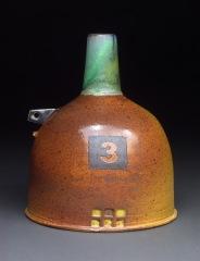 Bottle, Soda Fired Stoneware, 7x5x5