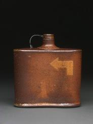 Flask, Soda Fired Stoneware, 5x5x2
