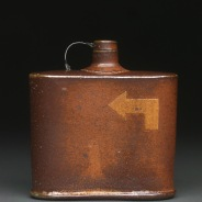 Flask, Soda Fired Stoneware, 5x5x2