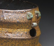 Handle Detail, Serving Trough, Soda Fired Stoneware and Copper Wire