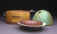 Lidded Jar with Serving Basket, Soda Fired Stoneware, 6x15x8. jpg