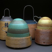 Lidded Jars, Soda Fired Stoneware, 9x15x14