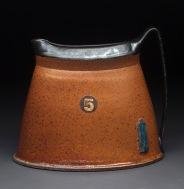 Oval Pitcher, Soda Fired Stoneware, 9x10x5