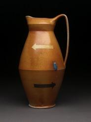 Pitcher, Soda Fired Stoneware, 12x7x6