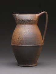 Pitcher, Wood Fired Reduction Cooled Stoneware, 8x5x4