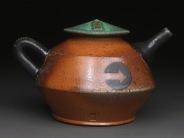 Teapot, Soda Fired Stoneware, 5x6x5