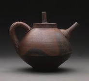 Teapot, Wood Fired Reduction Cooled Stoneware, 6x6x6