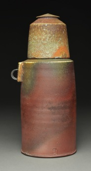 Thermos Form, Wood Fired Reduction Cooled Stoneware, 9x5x4
