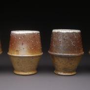 Yunomis, Soda Fired Stoneware, 6x14x4